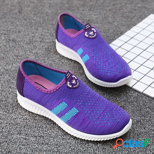 Mujer al aire libre Slip de malla para correr en los zapatos