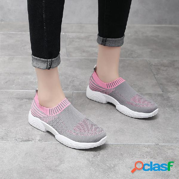 Mujer al aire libre Zapatillas deportivas sin cordones de