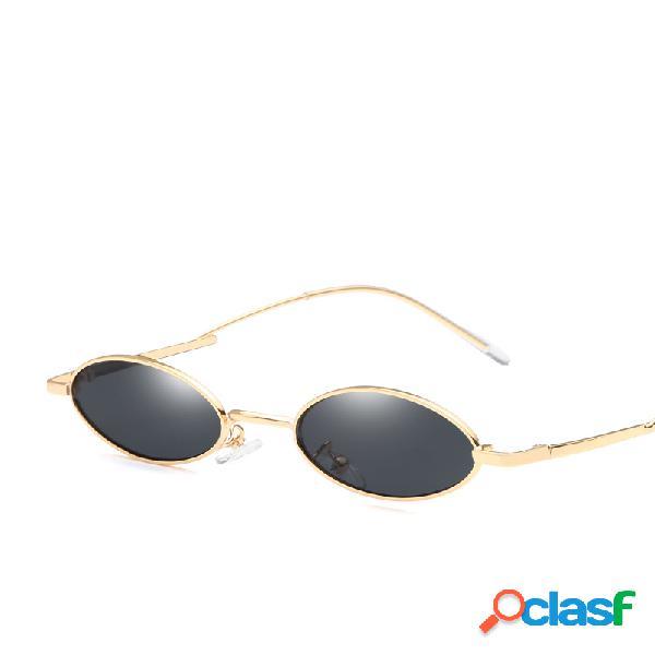 Mujer vendimia Gafas de sol ovaladas UV400 Gafas de sol con