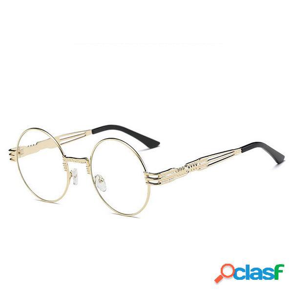 Mujer vendimia Gafas redondas UV400 de protección Causal