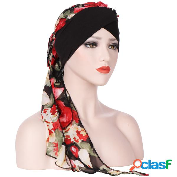 Mujeres vendimia transpirable gasa cómoda Sombrero gorro