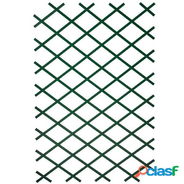 Nature Enrejado de jardín de PVC verde 2 unidades 100x200