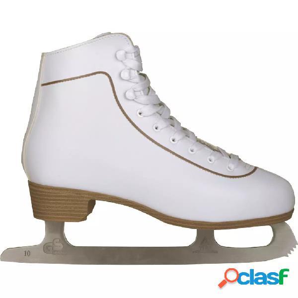 Nijdam patines cuero mujer patinaje artístico hielo 36
