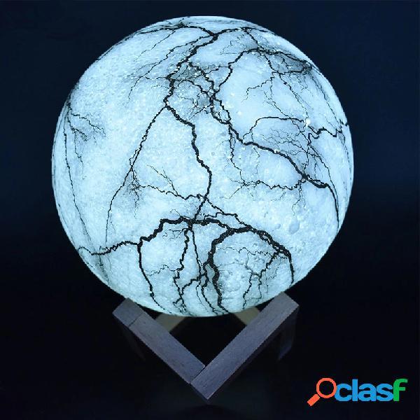 Nueva impresión 3D Lámpara de luna Luz de noche LED