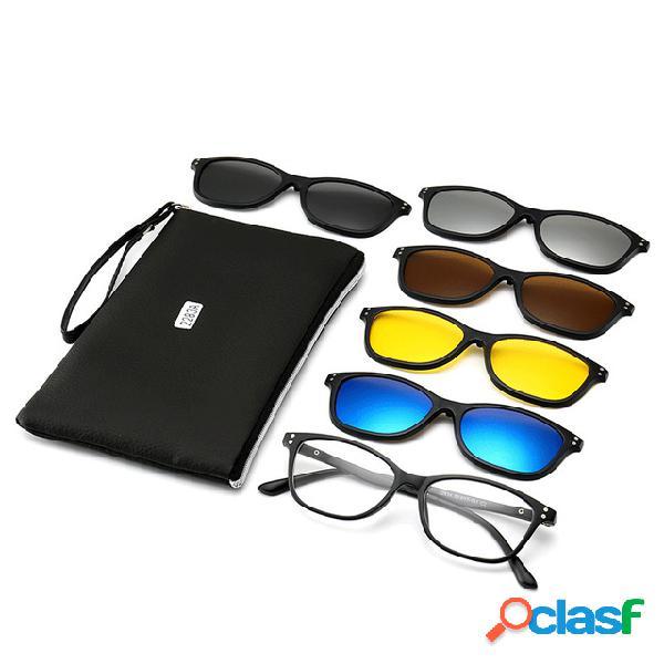 Nuevas gafas de sol polarizadas con clip de 5 piezas Myopia
