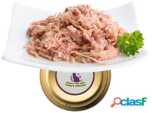 Nuevo Tarrina Tasty Filetes de Salmon y Pavo 90 GR