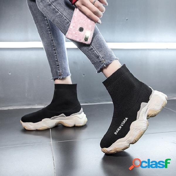 Nuevos calcetines elásticos Calzado de mujer Calcetines