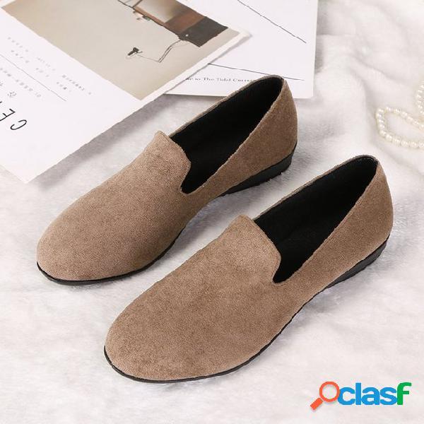 Nuevos zapatos de mujer de color sólido de gran tamaño de