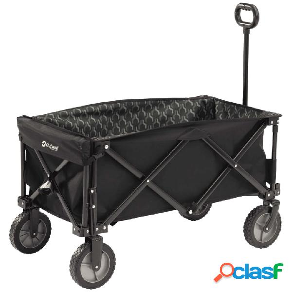 Outwell Carro plegable para camping Cancun Transporter negro