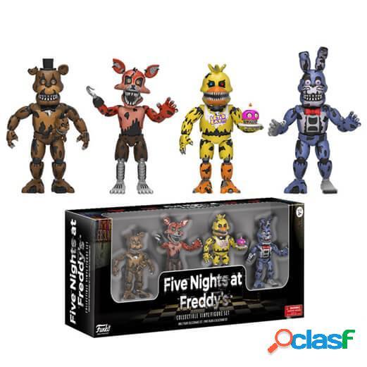 Pack 4 mini figuras Nightmare Five Nights at Freddy's