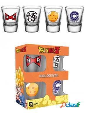 Pack 4 vasos de chupitos Dragon Ball