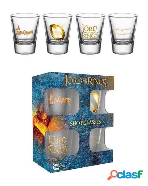 Pack 4 vasos de chupitos El Señor de los Anillos