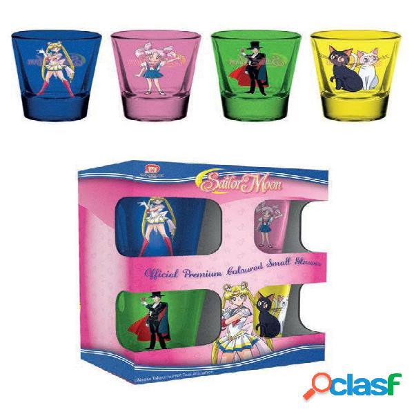 Pack 4 vasos de chupitos Sailor Moon