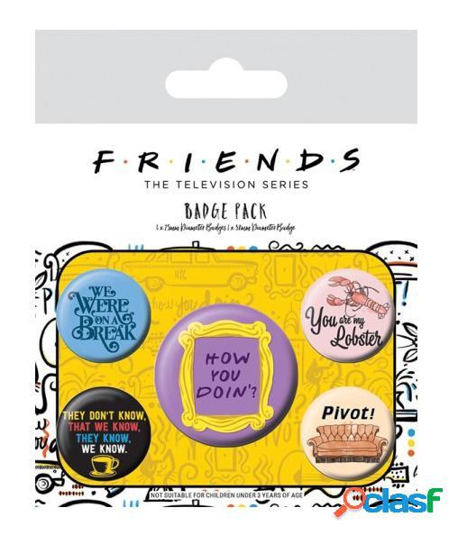 Pack 5 Chapas Friends