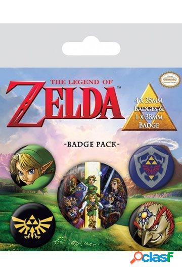 Pack 5 Chapas Link Zelda