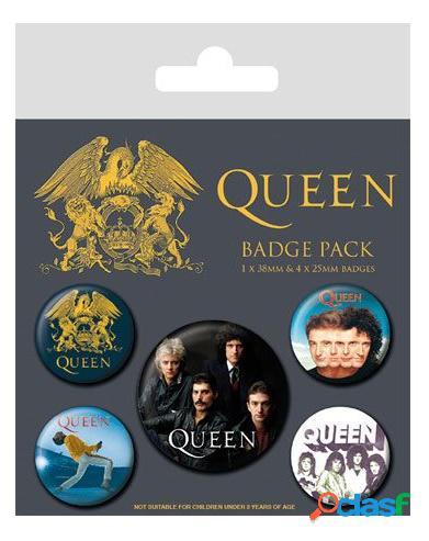 Pack 5 chapas Queen