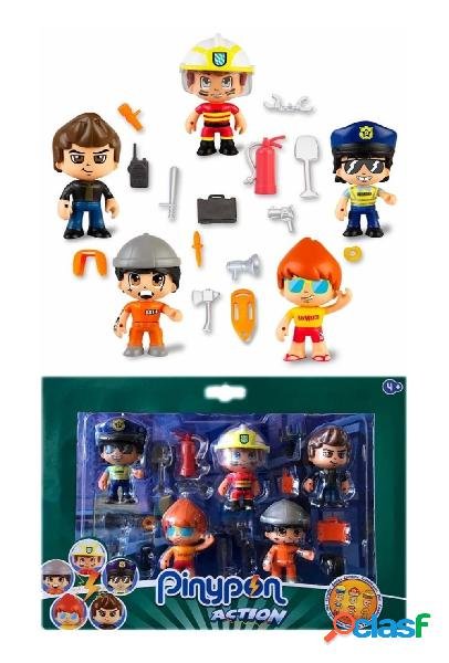 Pack 5 figuras Pinypon Action Serie 2