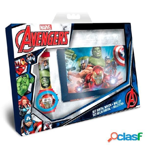 Pack Cartera + Reloj digital Avengers