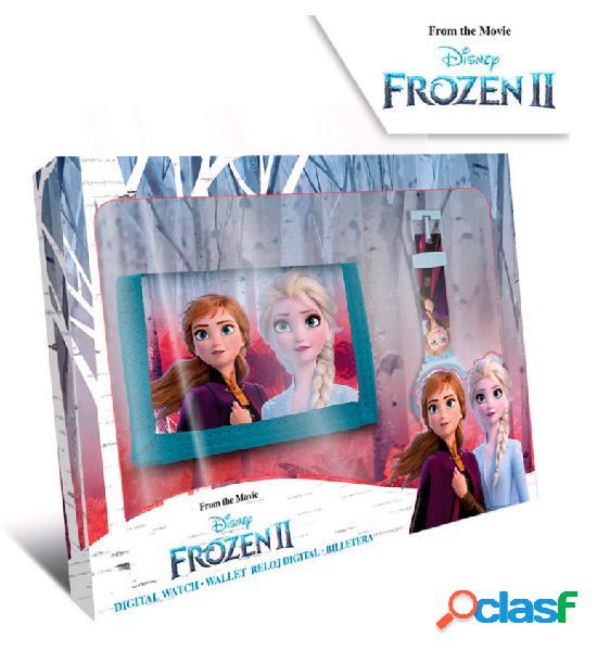 Pack Cartera + Reloj digital Frozen II
