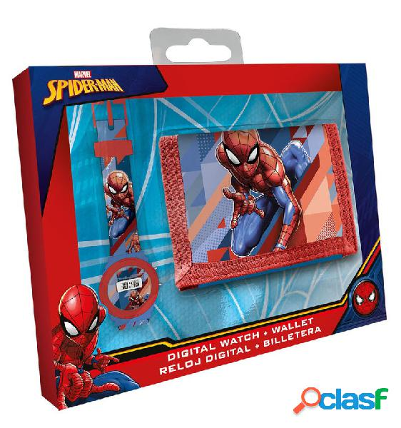 Pack Cartera + Reloj digital Spiderman