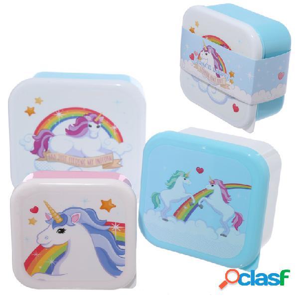 Pack de 3 Fiambreras Unicornio