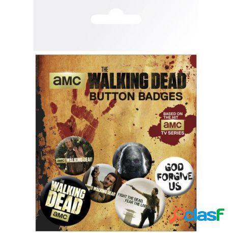Pack de chapas Walking Dead