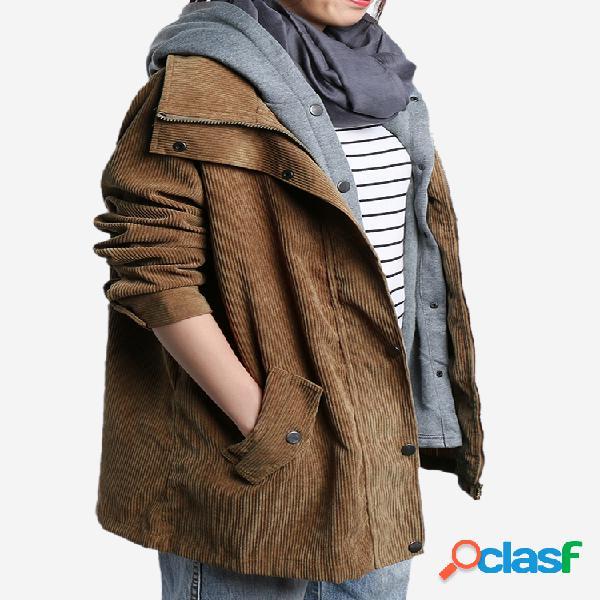 Pana dos piezas con capucha Plus abrigo de tamaño para