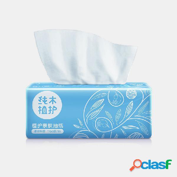 Papel de servilleta para el hogar de 3 capas que no daña la