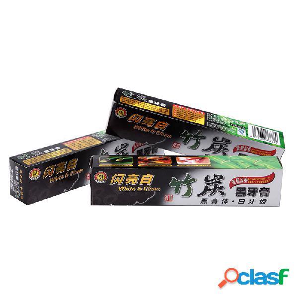 Pasta de dientes de carbón de bambú Anti-Halitosis