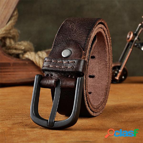 Piel Genuina Cinturón para hombre Cintura esmerilada