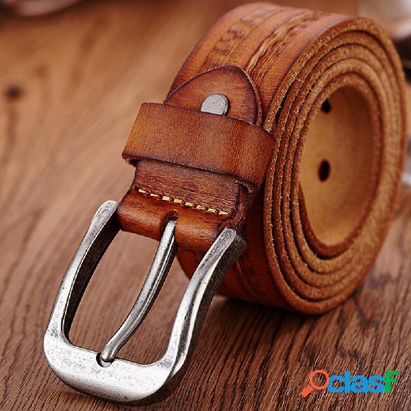 Piel Genuina Hombre Cinturón Cintura casual Correa de