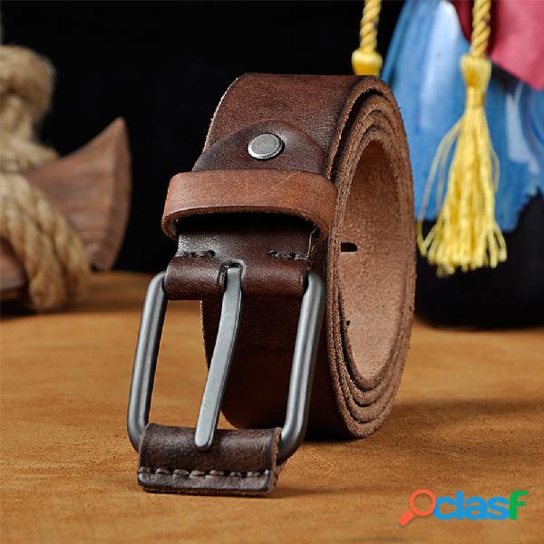 Piel Genuina Hombre Cinturón Pin de hebilla casual para la
