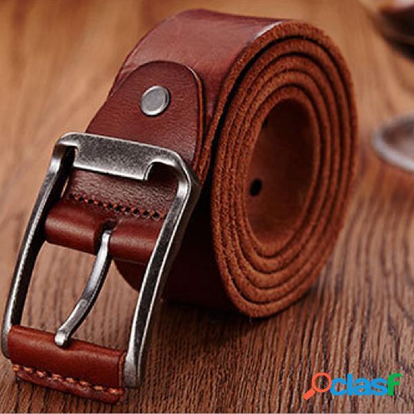 Piel Genuina Hombres Cinturón Cintura casual Correa de
