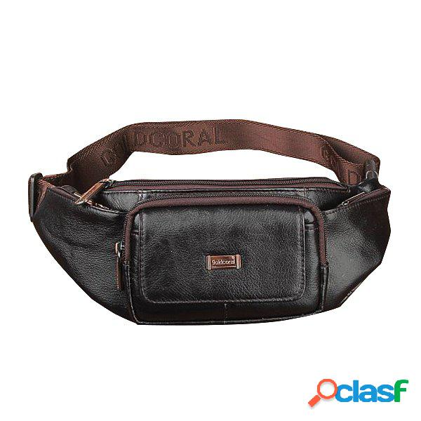 Piel Genuina Waist Bolsa Casual Business Crossbody Bolsa