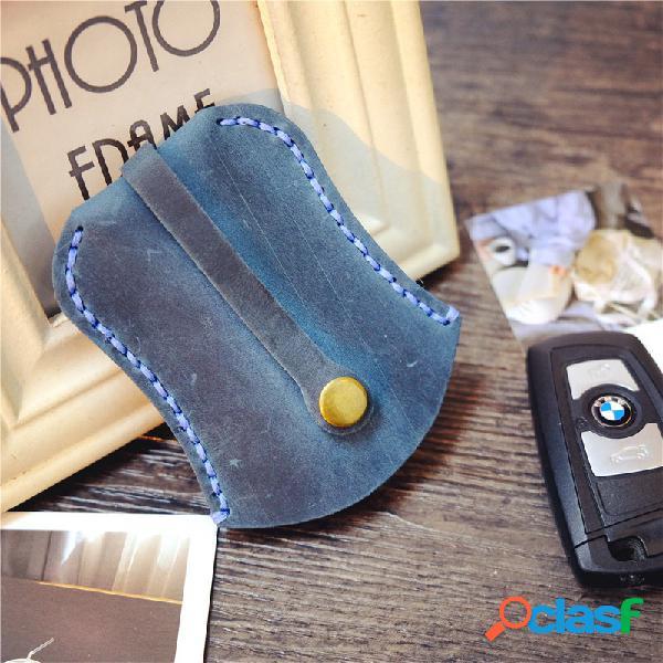 Piel Genuina vendimia Coche Monedero para monedas Key Holder
