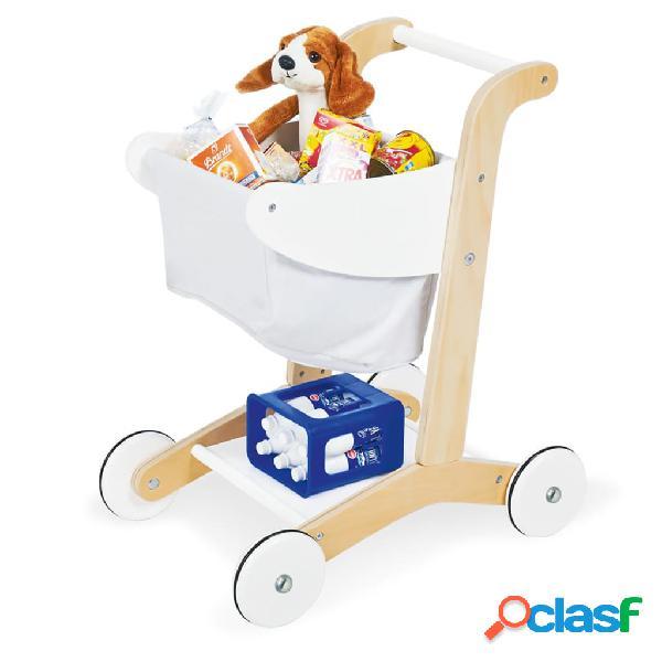 Pinolino Carrito de la compra de juguete Erna blanco
