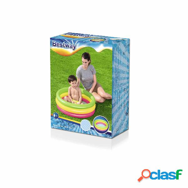 Piscina Inflable 3 Anilllos Colores