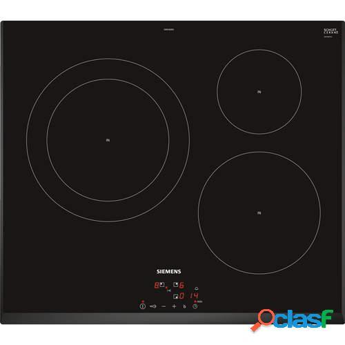 Placa Inducción Siemens EH651BJB1E - 3 Zonas, Boost, 17