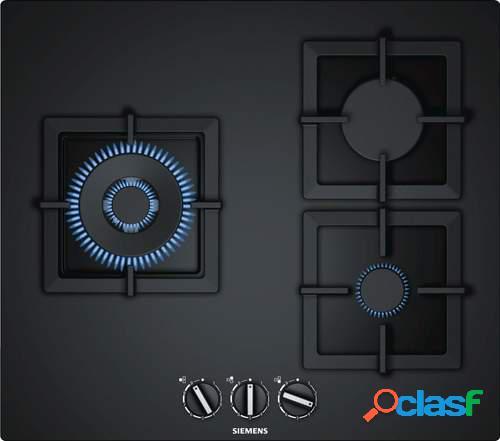 Placa de Gas Siemens EP6A6CB20 - 3 Fuegos, Wok, 9 Potencias,