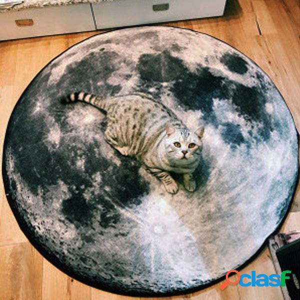 Planet Moon Earth Venus Pattern Carpet Alfombra de suelo
