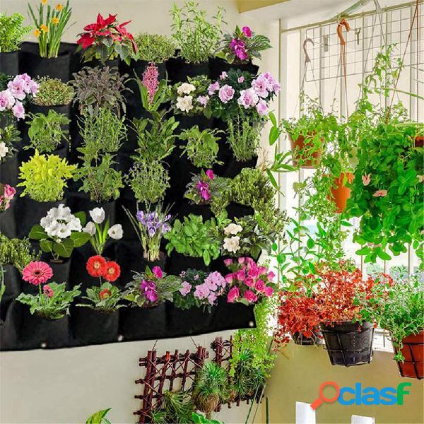Plantación Bolsa 18 Plantas de fieltro montadas en la pared