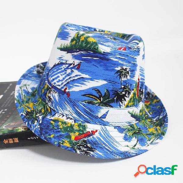 Playa Patrón Cubo de tela Sombrero Sombrilla de playa de