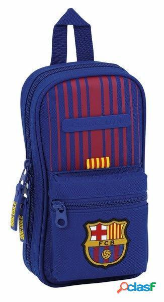 Plumier forma de mochila con 4 portatodos de Fc Barcelona