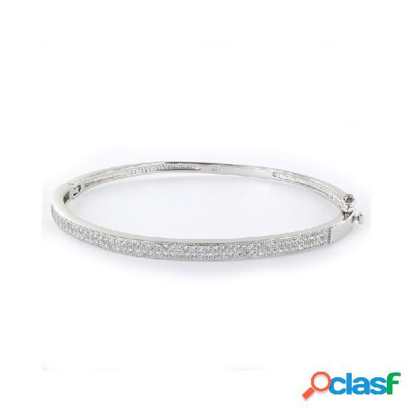Pulsera Plata Mujer Rígida Circonitas 9103974