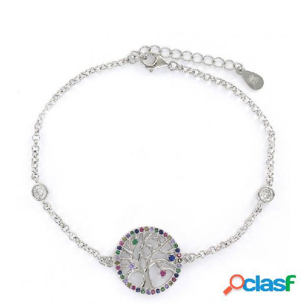 Pulsera Plata Mujer Árbol De La Vida 9109133