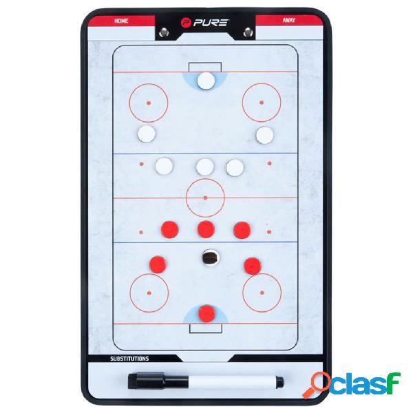 Pure2Improve Pizarra táctica de hockey sobre hielo 35x22cm
