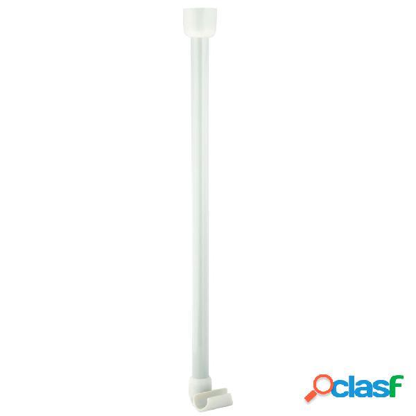 RIDDER Soporte para barra de cortina de baño blanco