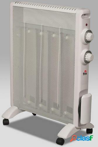 Radiador de mica FM RS-15 - 1500/750W, Antivuelco, 2