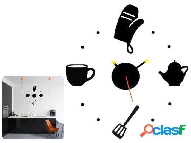 Reloj adhesivo cocina