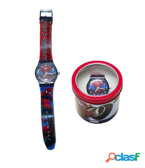 Reloj analogico en caja Spiderman